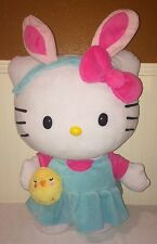 "Hello Kitty Sanrio Huge Easter Bunny Ears Jumbo Large Plush Toy 23"" Standing"