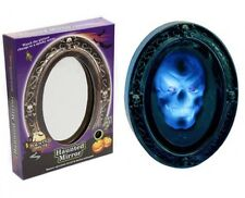 halloween haunted skeleton skull motion activated talking flashing mirror-