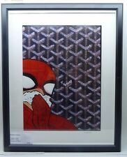 Nathalie Zelman Acrylic on printed GOYARD photo Spider Man (Spider Sniff)