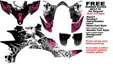 DFR FOLD GRAPHIC KIT BLACK/PINK SIDES/FENDERS YAMAHA YFZ450 YFZ 450