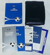 1996 FORD WINDSTAR OWNER GUIDE Owner's Manual Book Booklet Set w/ Zippered CASE