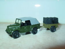1/87 HO scale Russian GAZ-69A 4x4 Staff Car with Trailer    Handmade