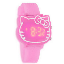 PINK Hellokitty FACE LED Digital watch kids Girls wrist watches children