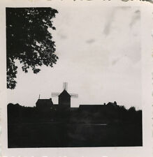 PHOTO ANCIENNE - VINTAGE SNAPSHOT - MOULIN À VENT SILHOUETTE - WINDMILL