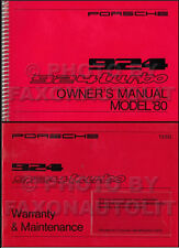 NOS 1980 Porsche 924 and Turbo Owners Manual WITH Maintenance Handbook Guide OEM