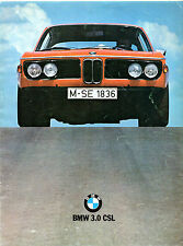 BMW 3.0 CSL 1972-74 UK Market Foldout Sales Brochure