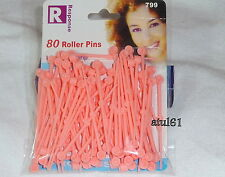 80 Thin Plastic Colours Hair Roller Pins For Rollers Styling curling Tools NEW