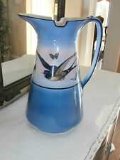 Antique English/French Victorian Barn Swallow Pitcher~Bird In Flight