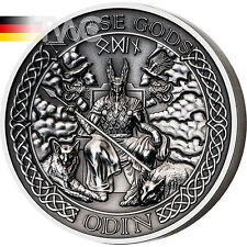 Cook Islands 2015 10 $the Norse Ilse-Odin Antique Finish Silver Coin