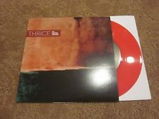 """THRICE - AT GUITAR CENTER 7"""" RED COLOR VINYL / # 1484 / 2000 INDIE EMO"""