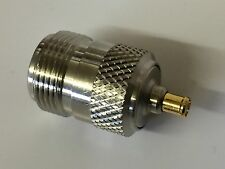 N TYPE FEMALE TO MCX  MALE ADAPTOR 50 OHM (x1)                           blb198