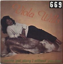 """VIOLA WILLS - Gonna get along without you now - VINYL 7"""" 45 ITALY 1979 VG+ / VG-"""