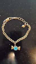 """Juicy Couture Girls Blue Candy Heart Charm Bracelet Lobster clasp 7"""""""
