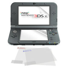 4x ZedLabz clear LCD screen protector film for New 3DS XL top & bottom in cloth