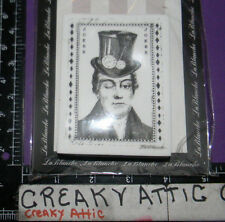 MAN TOPHAT CLOCK KEY JOKER PAPER FOAM RUBBER STAMP LABLANCHE #1341 NIP