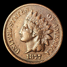 1877 Indian Head Penny - VF KEY DATE #10177