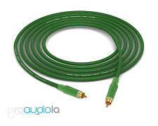 Mogami 2534 Quad Cable | Green Amphenol RCA to RCA | Green 35 Feet 35 Ft. 35'