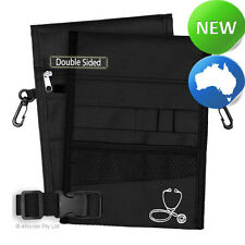 Nursing Pouch-13 Pocket Double Sided, Zip, Belt, Embroidery, Nurse - Black 03