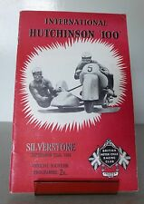 Silverstone Motor Racing Cycle Road Race Meeting Programme 22nd September 1956
