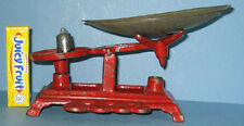 """OLD CAST IRON TOY BALANCE SCALE * 2 1/4"""" PAN + 1 ORIG WT ***ON SALE*** CI 406"""