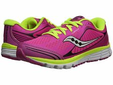 Saucony Girls  Pink/Black/Citron Lace Sneakers  Girls Youth Size 6 1/2 M