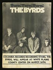 "Byrds White Plains 16"" x 12"" Photo Repro Concert Poster"