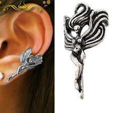Enchantingly Beautiful Goddess Fairy Angel Gothic Punk Rock Silver Ear Cuff Wrap