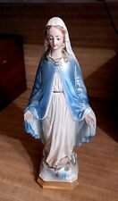 Vintage Chalkware Plaster Statue Of Virgin Mary Catholic Religious