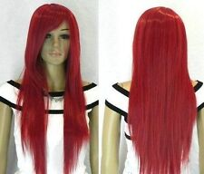 NEWCU18 charming  Long Straight dark red Women's Wig wigs for women