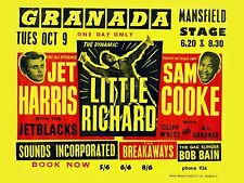 "Little Richard / Sam Cooke Mansfield 16"" x 12"" Photo Repro Concert Poster"