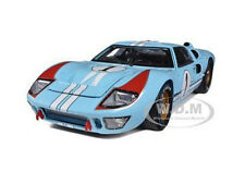 1966 FORD GT-40 MK 2 BLUE #1 DIECAST CAR MODEL 1/18 SHELBY COLLECTIBLES SC411