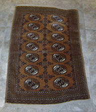 "VINTAGE HANDMADE BUKHARA WOOL RUG 3"" 11"" BY 2'6"" ESTATE FIND"