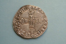QUALITE RARE 1/4 ECU 1627 L LOUIS XIII