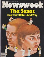 MAY 18 1981 - NEWSWEEK magazine (UNREAD - NO LABEL) - HOW THE SEXES DIFFER