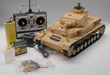 New RC 1:16 Heng Long Panzer IV DAK F1 Airsoft Tank Smoking Remote Control Tank