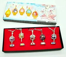 New Anime Puella Magi Madoka Magica Soul Gem 5 Necklace + 5 Rings Cosplay Gift