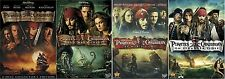 Pirates of the Caribbean 1 2 3 4 One Two Three Four (4 DVD SET) Johnny Depp NEW