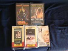 Madonna Set of 5 VHS from 80's and 90's Mint Body Dick Tracy Letto Shangai