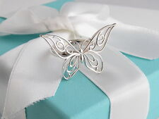 Brand New Tiffany & Co Silver Butterfly Ring Size 7