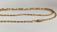 "18k Solid Yellow Gold Beaded Sparkle Chain Necklace Diamond Cut 18"", 5.75grams"