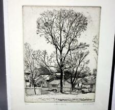 "Frank Stack Signed ""Tree in Spring"" Etching (Robert Crumb contemporary)"