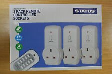Remote Control Sockets Wireless Switch Home Mains UK Plug AC Power Outlet 3 Pack