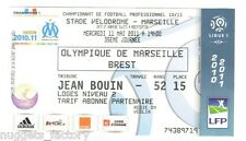 Billet / Place Olympique de Marseille - OM vs Brest - 2011 ( 081 )