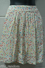 Ladies Pale Yellow Spotty Spotted Skirt UK Size 18 from New Look