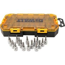Dewalt 17 Piece 3/8'' Drive Allen Hex Bits SAE, Metric and Torx Socket Set 21368