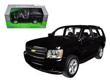Welly 1/24 2008 Chevy Tahoe SUV Street Version Black Diecast Car Model 22509