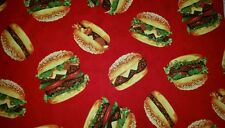 LINED VALANCE 42X15 GRILL GRILLING BACON CHEESEBURGER DELUX BURGER CHEFS CHOICE