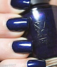OPI **RUSSIAN NAVY** Indigo Blue Purple w/ Pink Shimmer Nail Polish Lacquer R54