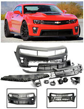 For 10-13 Camaro ZL1 Style Front Bumper Cover Upper Lower Grille W/ Fog Lights