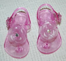 Toddler Girls PINK Thong GEL SANDALS Ankle buckles FLOWER on TOP 3  Shoes